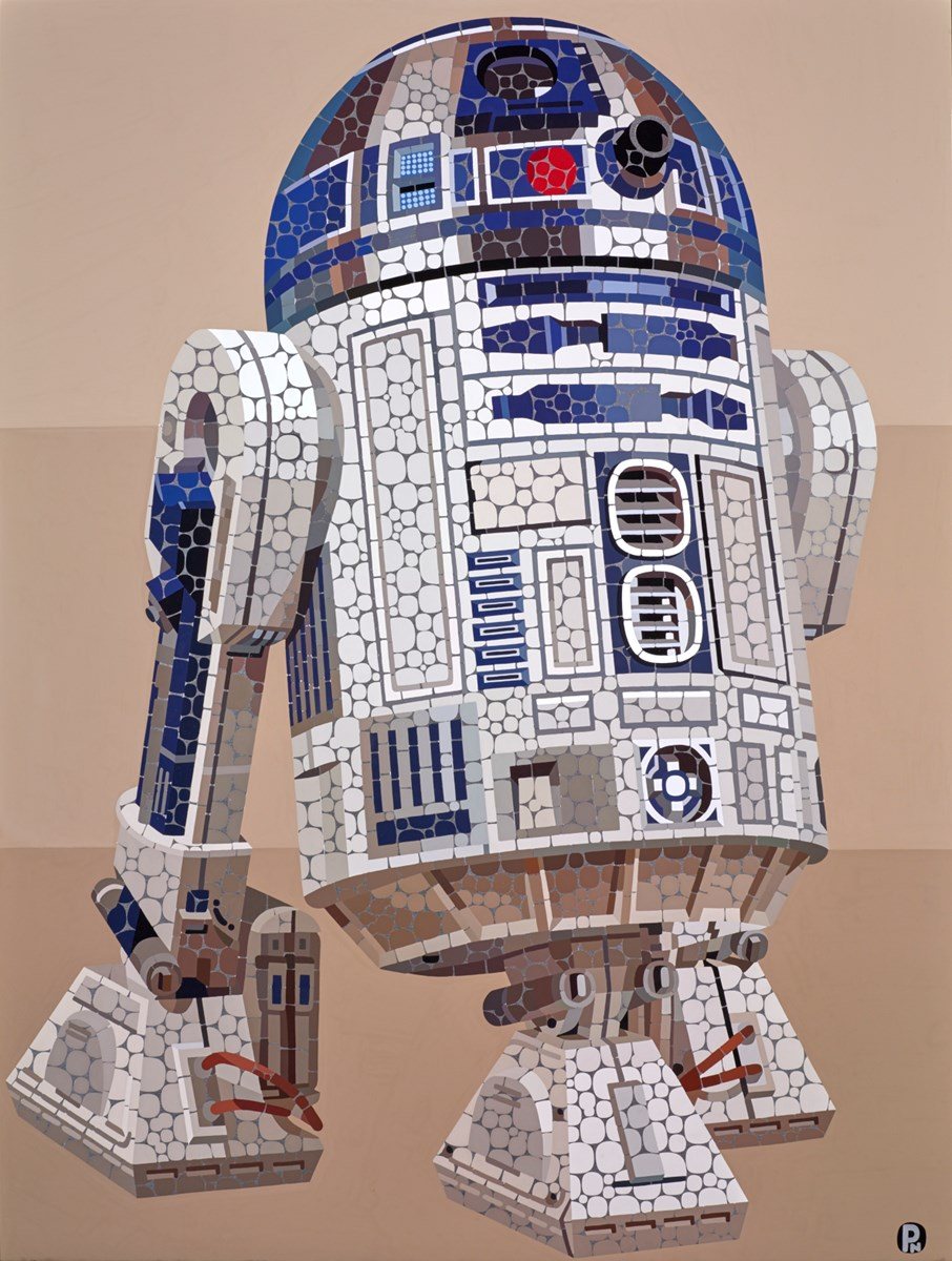 R2-D2 by paul normansell -  sized 24x32 inches. Available from Whitewall Galleries
